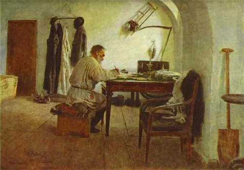 tolstoy-at-work_repin-1891